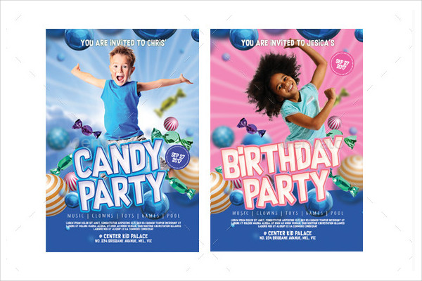 Stylish Kid Party Invitation Template