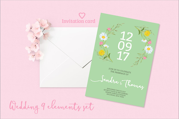Stylish Summer Wedding Invitations Set