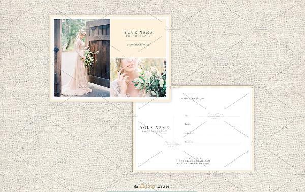 Stylish Wedding Photography Gift Card