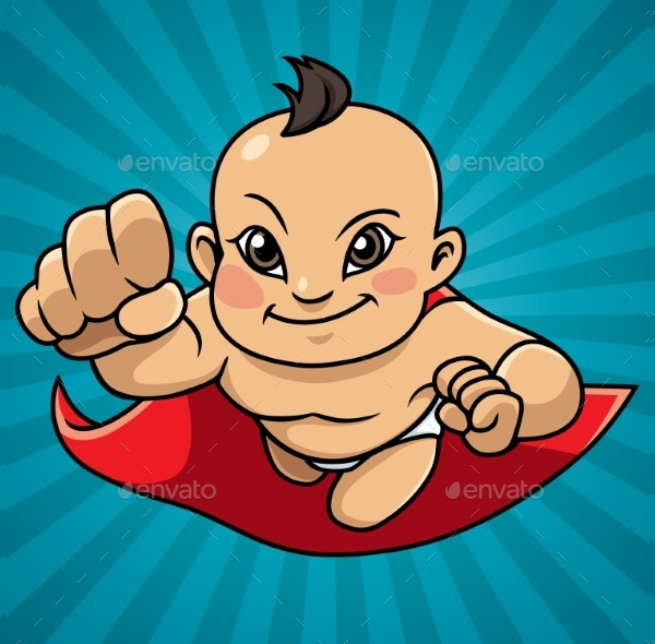 Super Baby Abstract Background