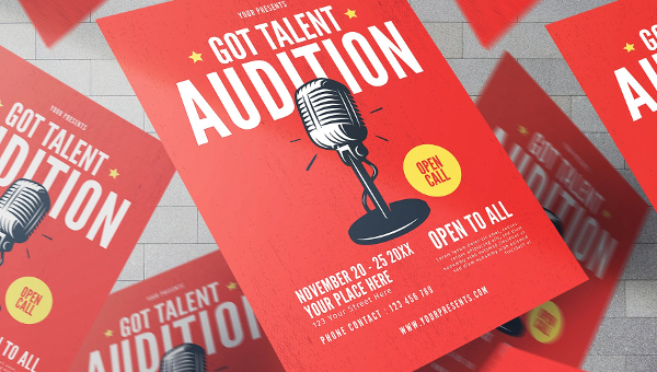 19+ Talent Show Flyers