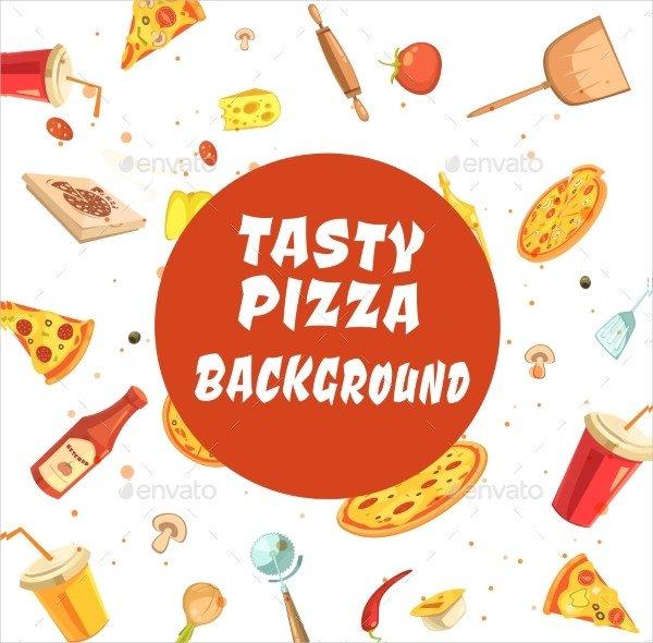 Tasty Pizza Making Seamless Pattern