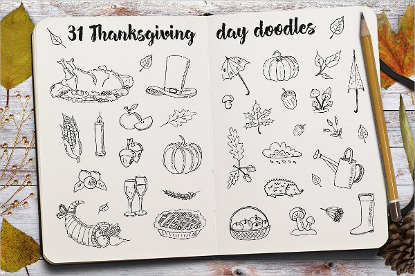 Thanksgiving Day Doodle