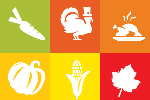 Thanksgiving White Icons Free