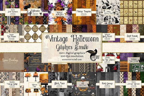 Vintage Halloween Graphics Bundle