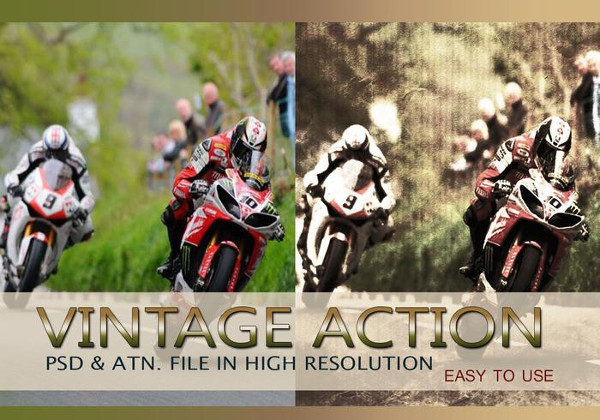 Vintage Photo Effect PSD & Action Free