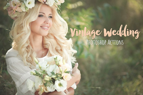 Vintage Wedding Professional Photoshop Actions