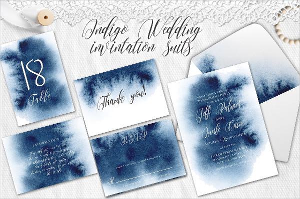 Watercolor Wedding Invitation Design
