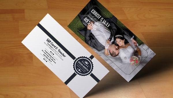 Wedding Gift Voucher Template