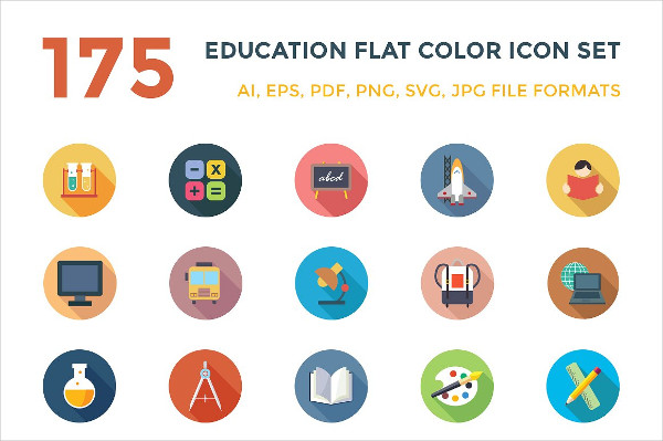 175 Education Vector Icon Pack