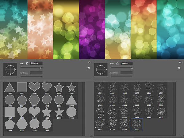 44 Bokeh Photoshop Brush Set