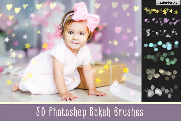 50 Bokeh Photoshop Brush Pack