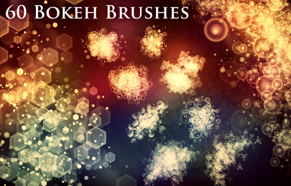60 Bokeh Brush Pack & PNG