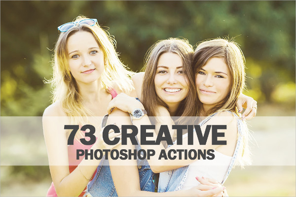 73 Creative Photoshop Actions Collection