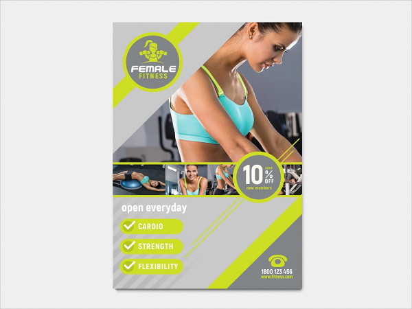 A4 Female Gym Poster Template