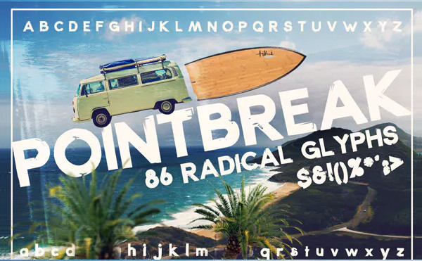 Abstract Beach Font