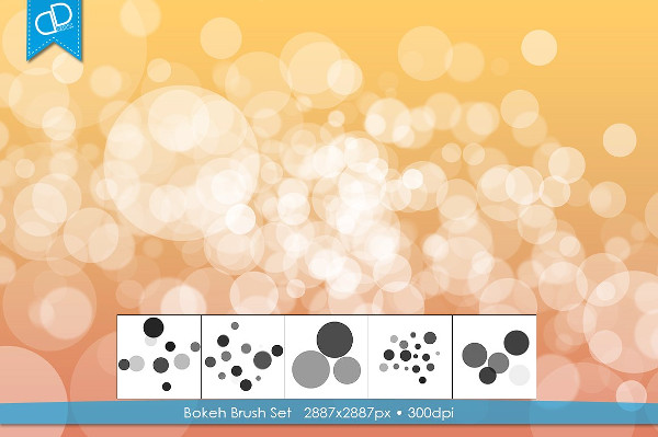 Abstract Bokeh Brush Set