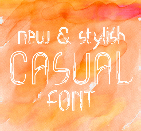 Abstract Casual Font