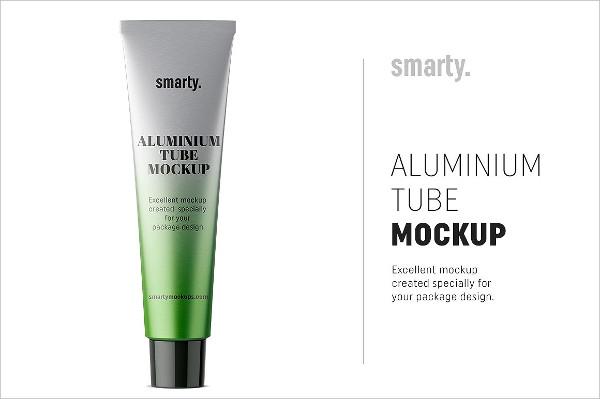 Aluminum Toothpaste Tube Mockup