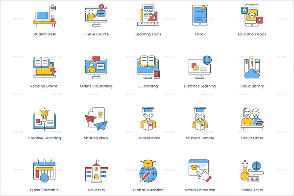 Beautifully-Crafted Online Education Icon Set