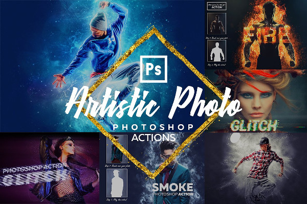 Best Artistic Photoshop Actions Bundle