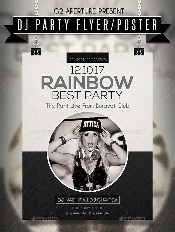 Best DJ Party Poster Template