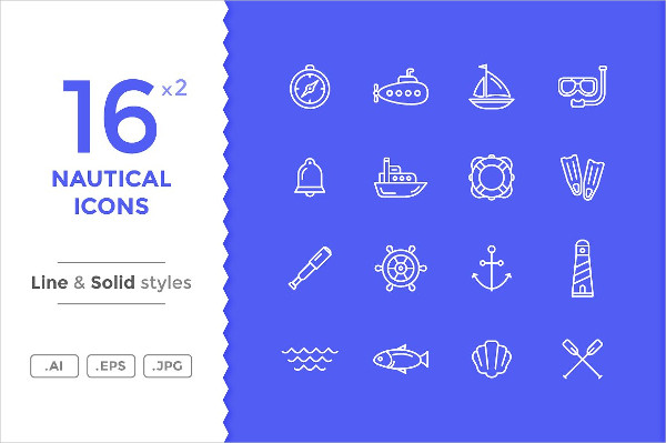 Best Nautical and Sea Icon Set