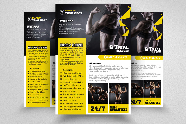 Body Fitness Flyer or Poster Template