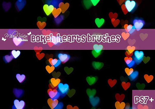 Bokeh Heart Brush Pack Free Download