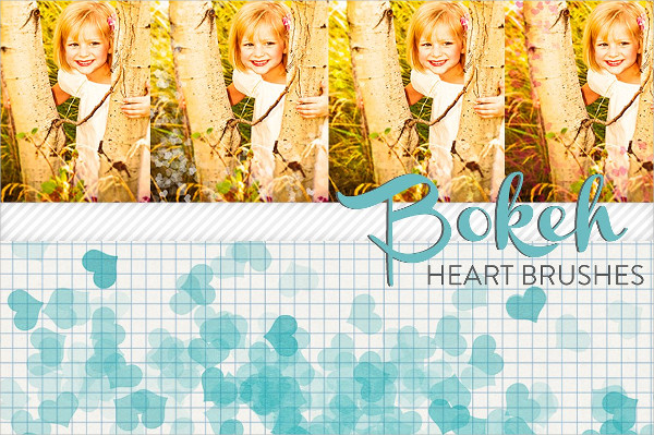 Bokeh Heart Brushes
