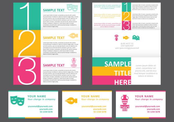 Bright Horizontal Brochure Free Download