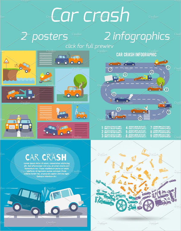 Car Crash Infographics and Posters