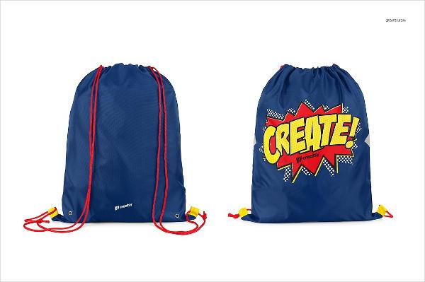 Clean Drawstring Backpack Mockups Set