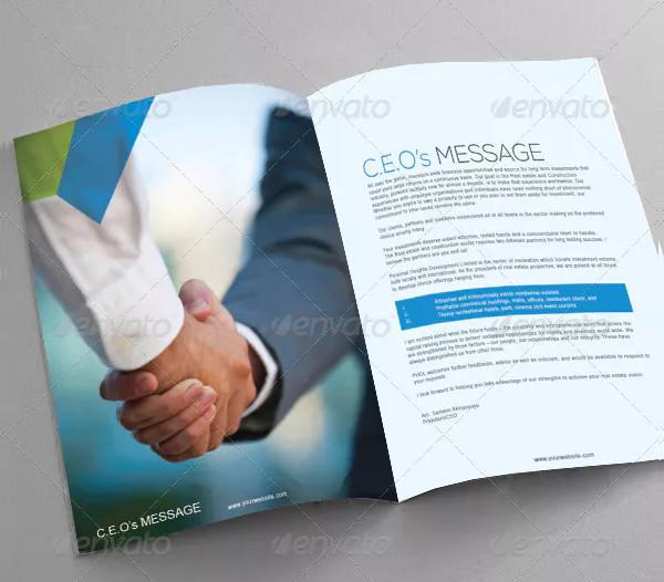 Clean Industrial Brochure Template
