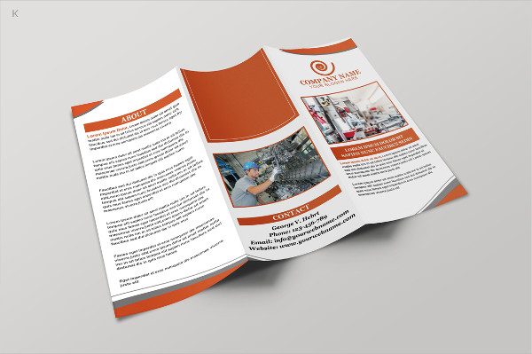Colorful Industrial Trifold Brochure