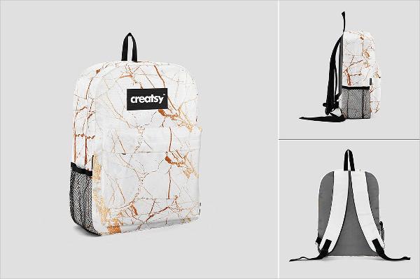 Cool Backpack Mockups Set Design
