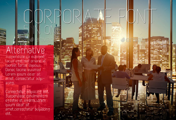 Corporate Font