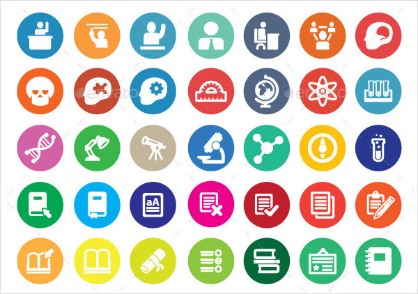 Creative Educational Icon Collection