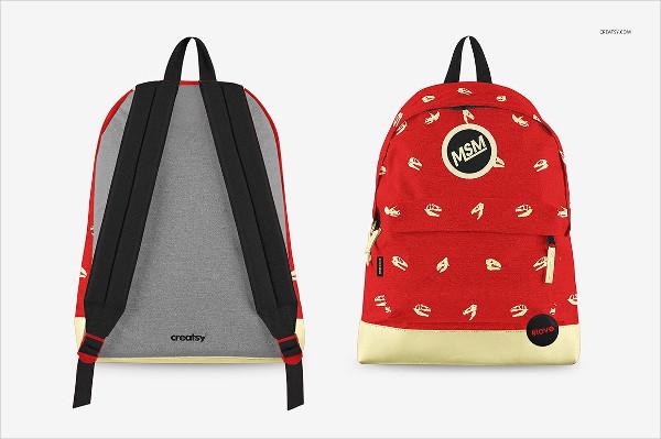 Custom Backpack Mockups Set