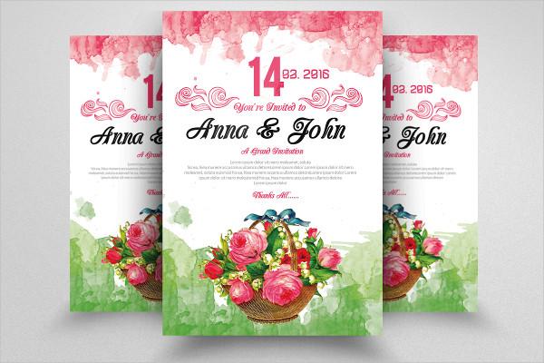 Custom Floral Wedding Flyer