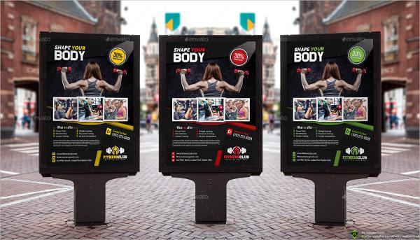 Custom Gym Poster Templates