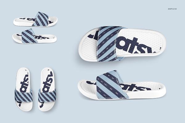 Custom Slide Sandals Mockups Set