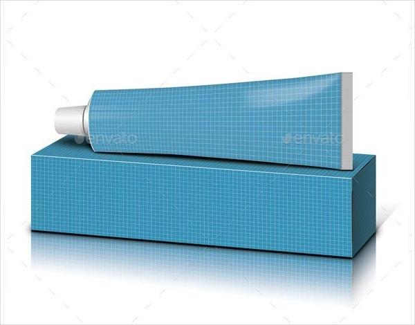Custom Toothpaste & Box Mockup