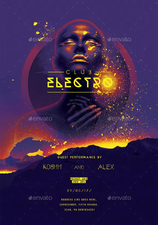DJ Festival Party Poster