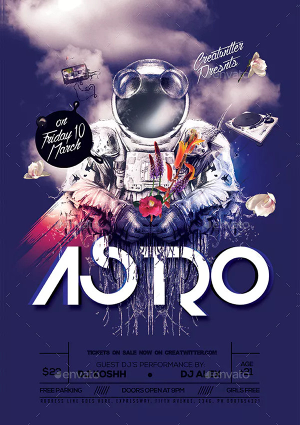 DJ Photoshop Poster Design