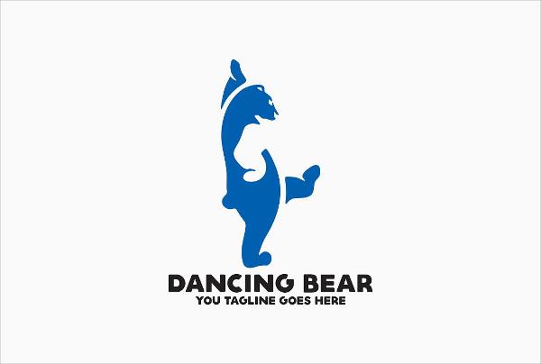 Dancing Bear Logo Template