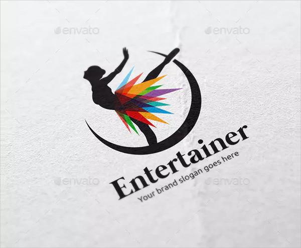 Dancing Woman Logo Template