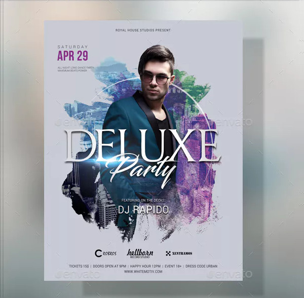 Deluxe DJ Party Poster Design