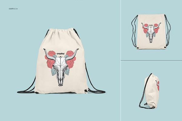 Drawstring Backpack Mockups Set