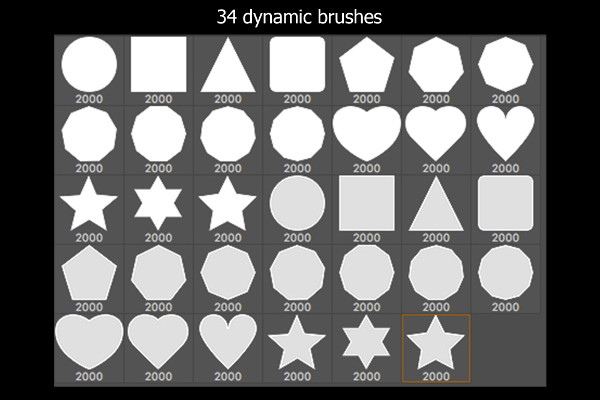Dynamic Bokeh Brush Set